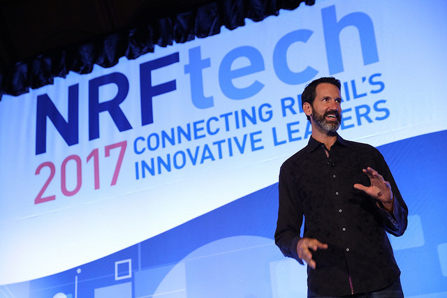 Michael Anderson, Founder, Executive, Joy Institute kicks off NRFtech 2017
